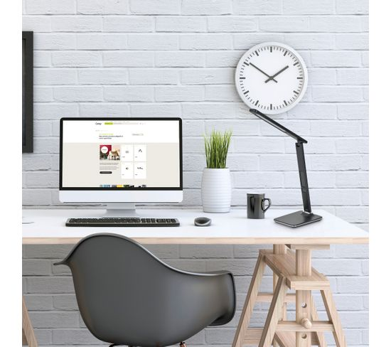 lampe de bureau LED articulée CHESTER Noir