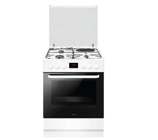 Cuisinière Mixte A 65l 4 Feux Blanc - Acm3506b