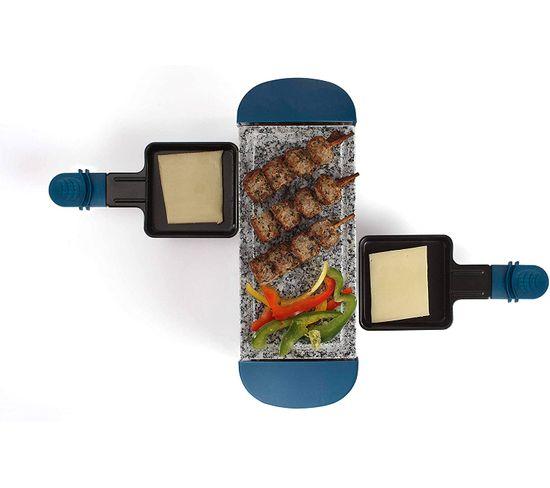 Appareil À Raclette 2 Personnes 350w Bleu - Doc156b