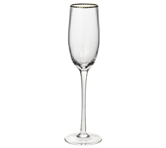 6 flûtes à champagne 21 cl MERVEILLEUX