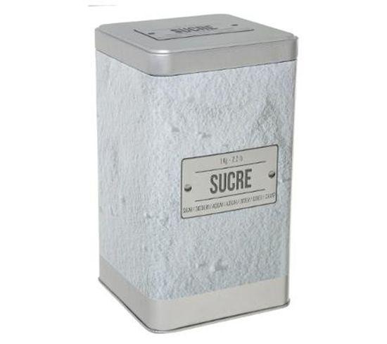 """Boîte À Sucre En Poudre """"relief Iv"""" 18cm Blanc"""