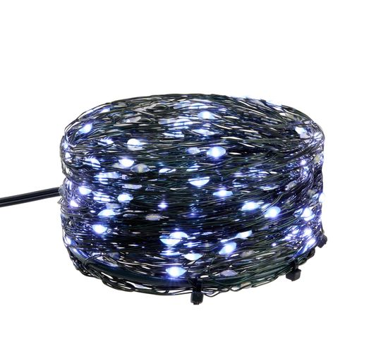 Guirlande pluie 10 fil 170 LED  blanc froid