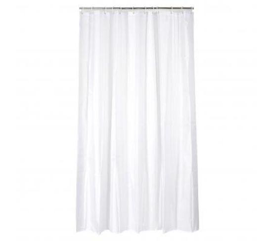 """Rideau De Douche """"polyester"""" 180x200 cm Blanc"""