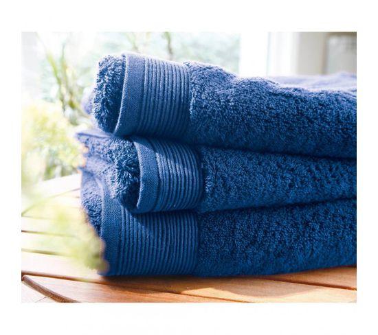 Gant Micro-coton 600 Grm² Uni Blanc Des Vosges - Bleu