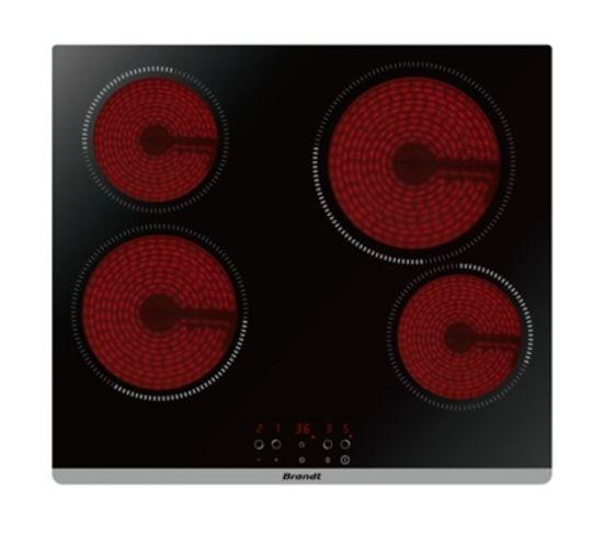 Table vitrocéramique BRANDT BPV6423B 60cm noir