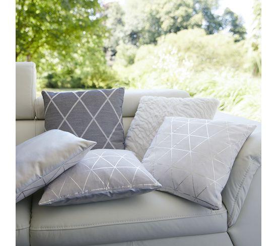 Coussin 40x40 cm GRAPHIQUE Blanc