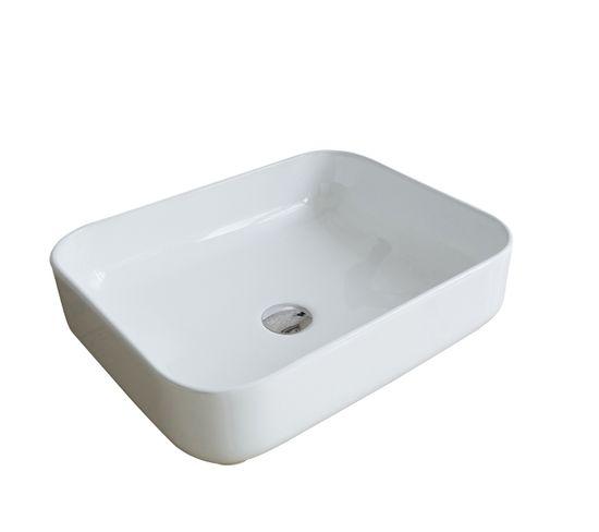 Vasque Ovale En Céramique Blanche