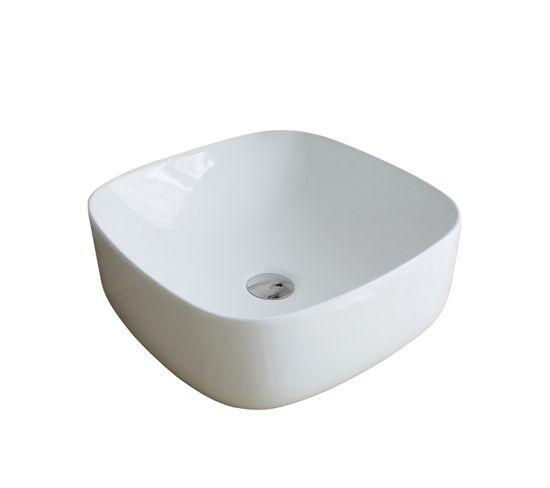Vasque Carrée En Céramique Blanche