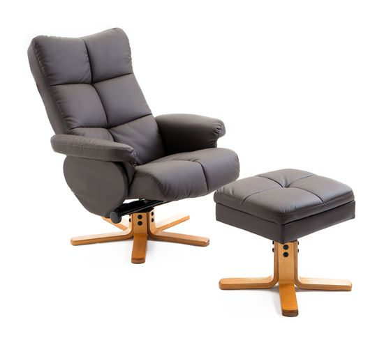 Fauteuil Relax Inclinable Marron