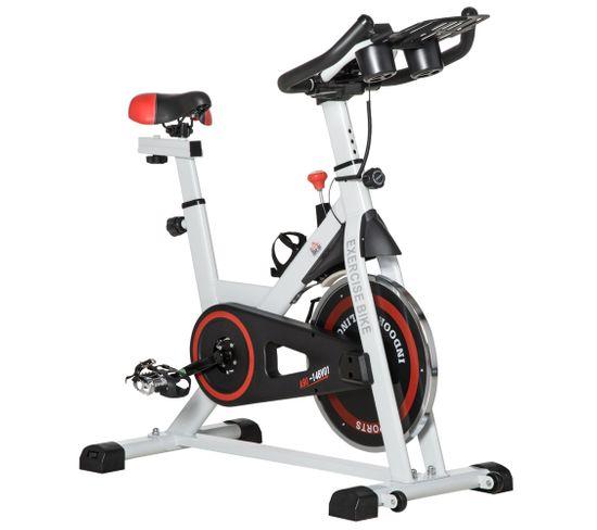 Vélo Biking Cardio Vélo D'appartement Fitness Haute Performance Acier Blanc