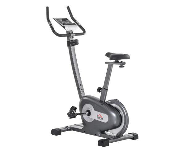 Vélo D'appartement Cardio Fitness Écran Lcd Multifonction Gris