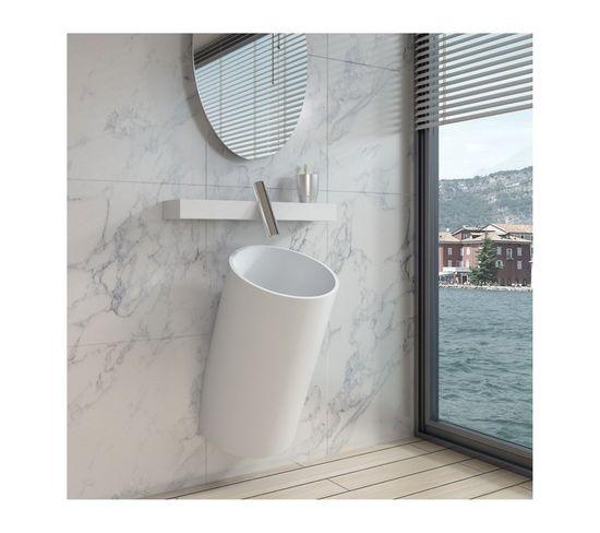 Vasque Suspendue Design Totem En Solid Surface Réf : Sdpw22