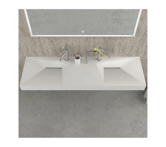 Double Plan Vasque Solid Surface : Sdwd38429