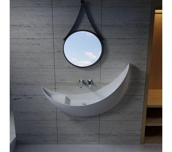 Vasque Croissant De Lune Sdv35 En Solid Surface