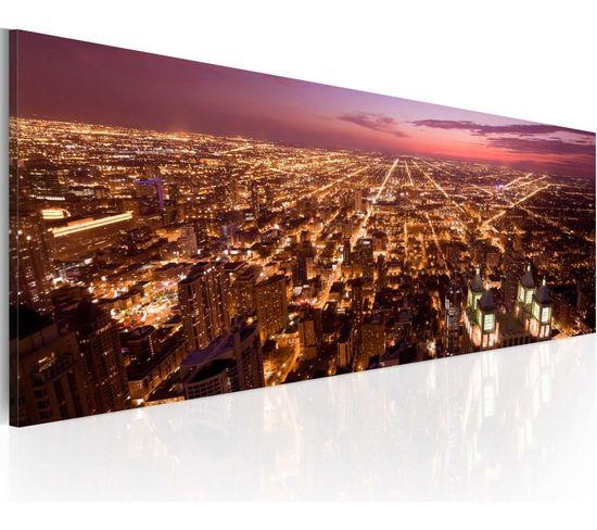 Tableau Flight Over Chicago - 120 X 40 Cm