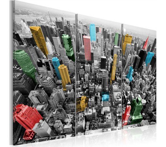 Tableau New York Impression En Cmyk 120 X 80 Cm