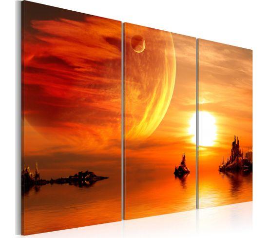 Tableau Coucher Du Soleil Romantique 60 X 40 Cm