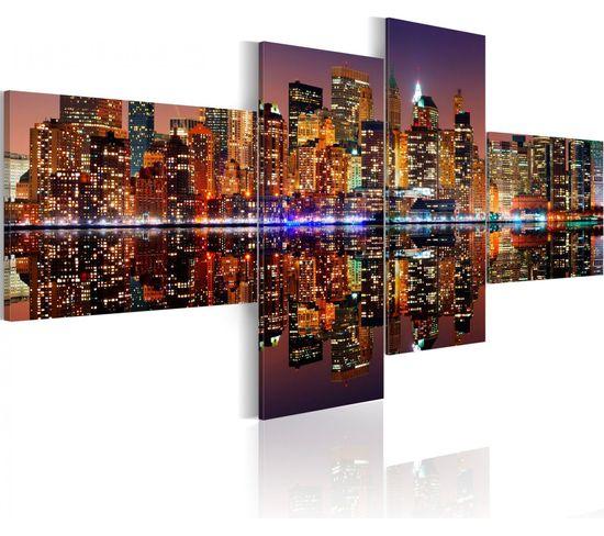 Tableau Nuit Blanche À New York 100 X 45 Cm