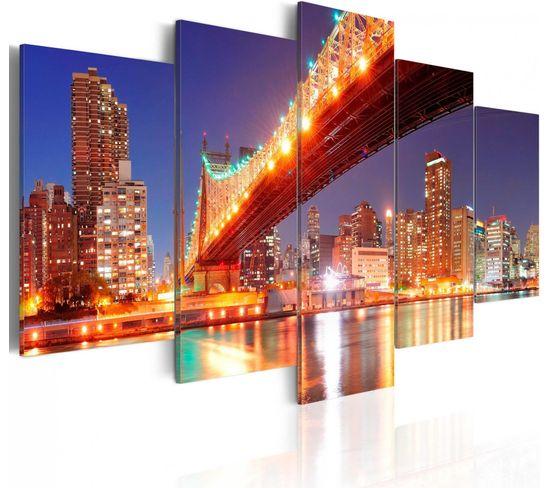 Tableau New York Aux Reflets 200 X 100 Cm