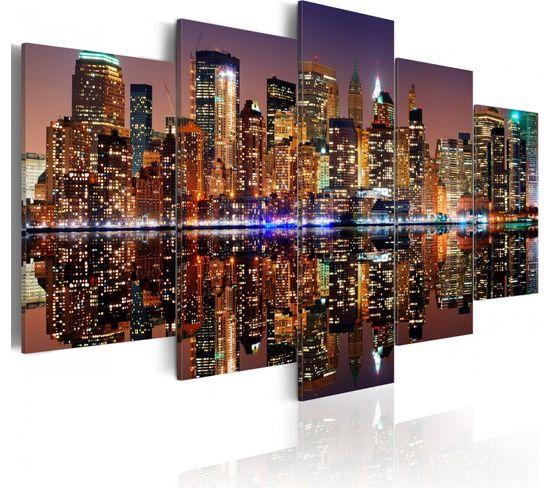 Tableau Nyc Reflet Dans Le Miroir 200 X 100 Cm