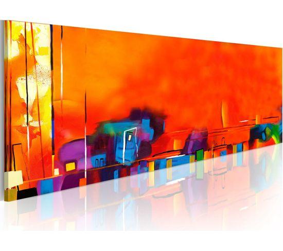 Tableau Panoramique - Entropie - 120 X 40 Cm