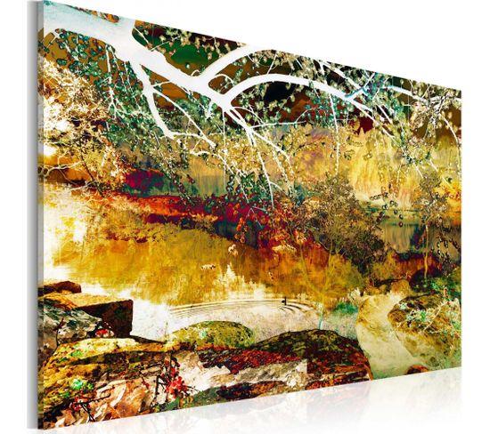 Tableau Parc Abstraction 90 X 60 Cm