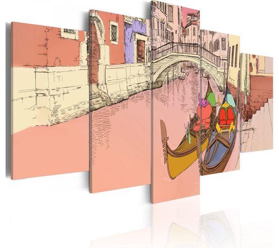 Tableau Romantic Gondolas 5 Parties 200 X 100 Cm