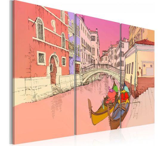 Tableau Romantic Gondolas 60 X 40 Cm