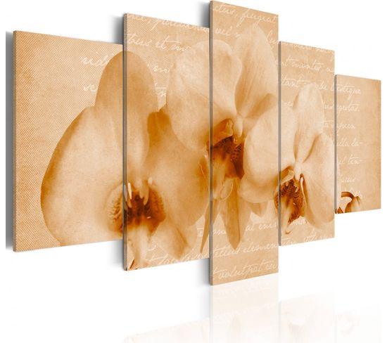 Tableau Orchidee Et Melancolie 100 X 50 Cm