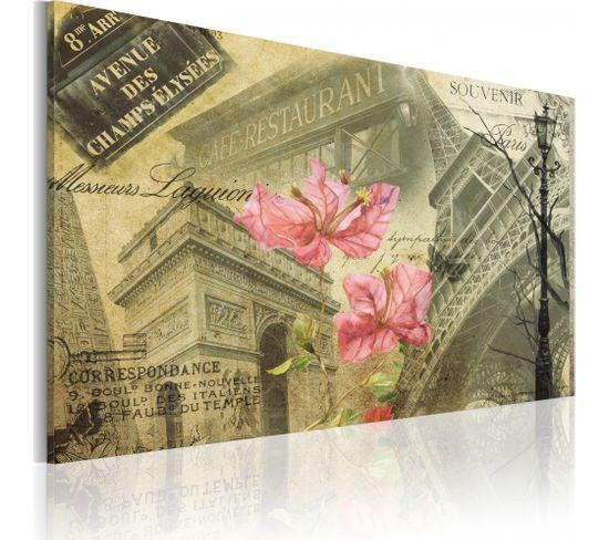Tableau Collage Français 90 X 60 Cm