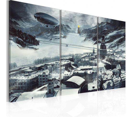 Tableau Le Temps D'hiver 60 X 40 Cm