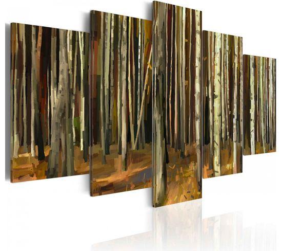 Tableau Mystère De La Forêt De Sherwood 100 X 50 Cm