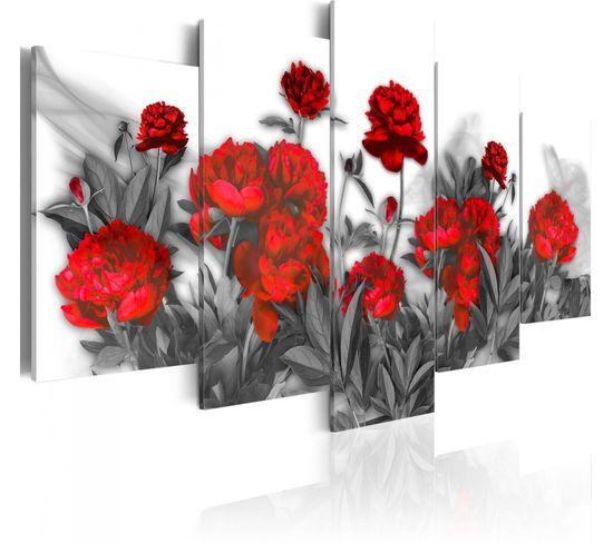 Tableau Rouge Vif 200 X 100 Cm