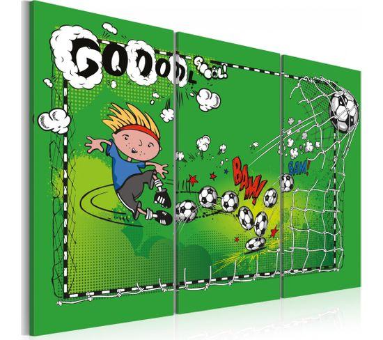 Tableau Football Game Triptyque 60 X 40 Cm