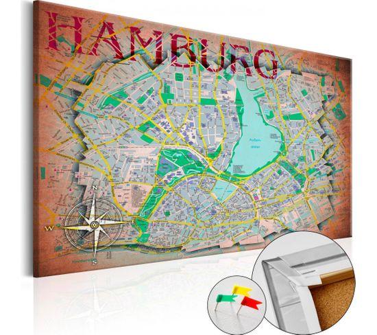 Tableau En Liège Hamburg 60 X 40 Cm