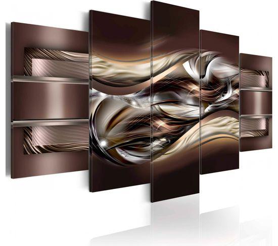 Tableau Variation De Chocolat 100 X 50 Cm