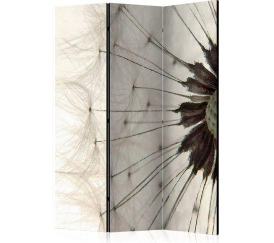 Paravent 3 Volets White Dandelion