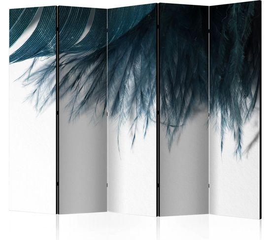 Paravent 5 Volets Dark Blue Feather Ii