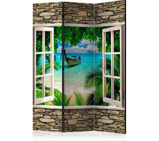 Paravent 3 Volets Tropical Beach