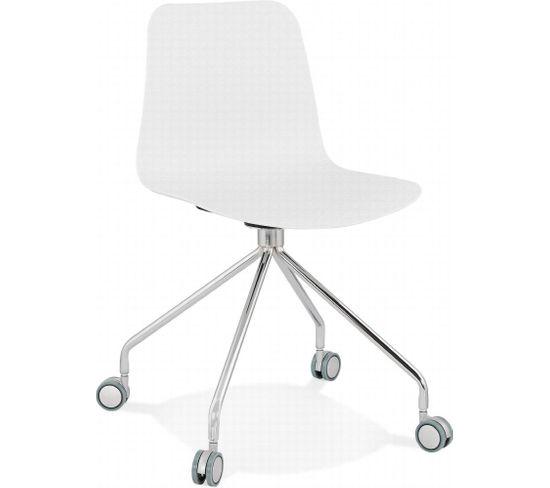 Chaise De Bureau Rulle Blanc