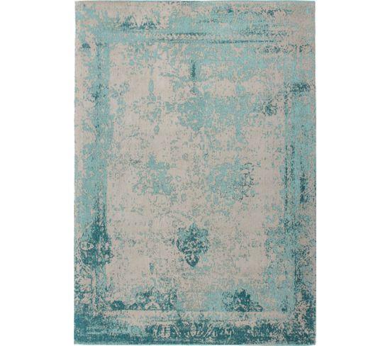Tapis Fait Main Nostalgie 285 Turquoise 80 X 150 Cm