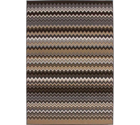 Tapis Tissé Now 700 Multicolore Marron 160 X 230 Cm