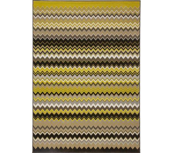 Tapis Tissé Now 700 Multicolore Or 120 X 170 Cm