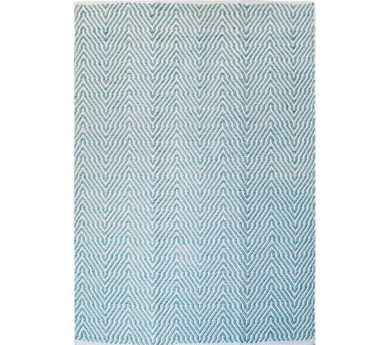 Tapis Fait Main Turquoise 410 Appetizer 120 X 170 Cm