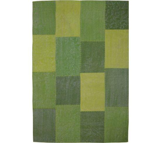 Tapis Fait Main 110 Lyrical Multicolore Vert 120 X 170 Cm
