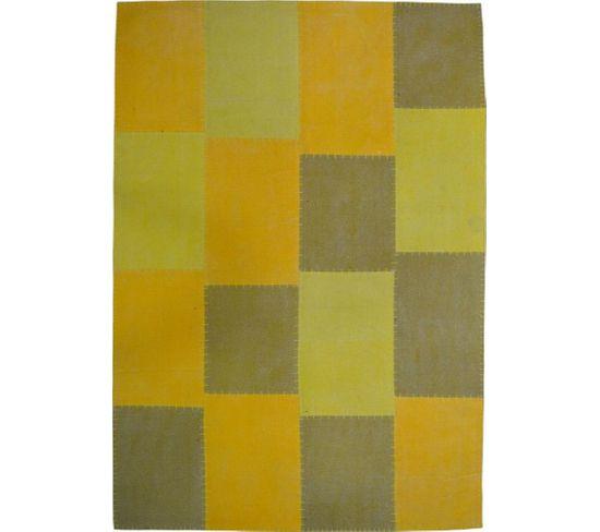 Tapis Fait Main 110 Lyrical Multicolore Jaune 120 X 170 Cm