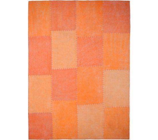 Tapis Fait Main 110 Lyrical Multicolore Orange 80 X 150 Cm