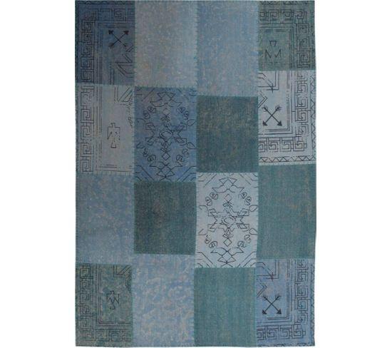 Tapis Fait Main 210 Lyrical Multicolore Bleu 120 X 170 Cm