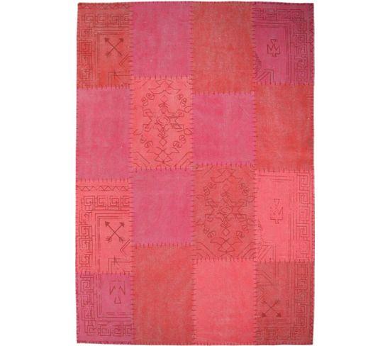 Tapis Fait Main 210 Lyrical Multicolore Rouge 80 X 150 Cm