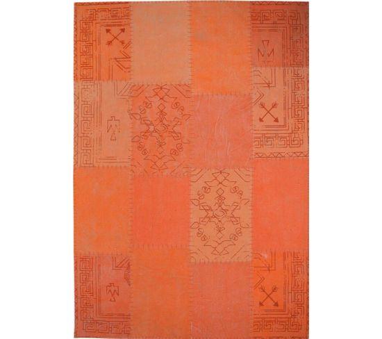 Tapis Fait Main 210 Lyrical Multicolore Orange 160 X 230 Cm